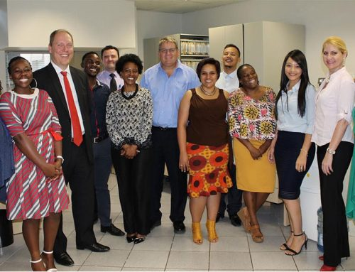 BANK WINDHOEK AND CAPRICORN GROUP EXECUTIVES SERVE CUSTOMERS