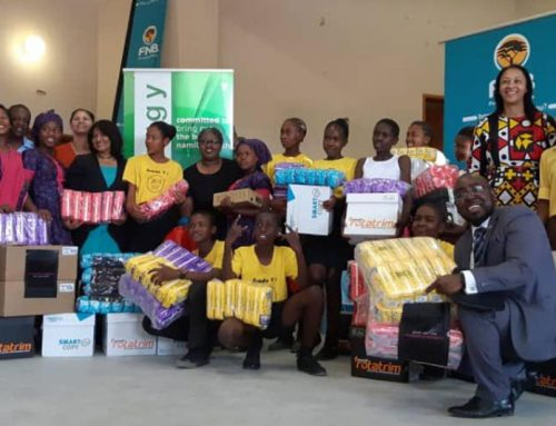 FIRSTRAND FOUNDATION DONATES SANITARY PADS SCHOOL GIRLS IN OMAHEKE
